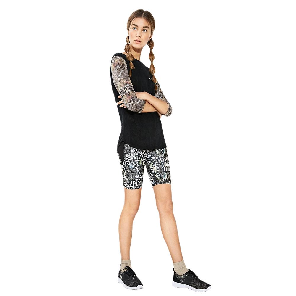 Desigual Luxury Jeans Shorts - Black/Oro