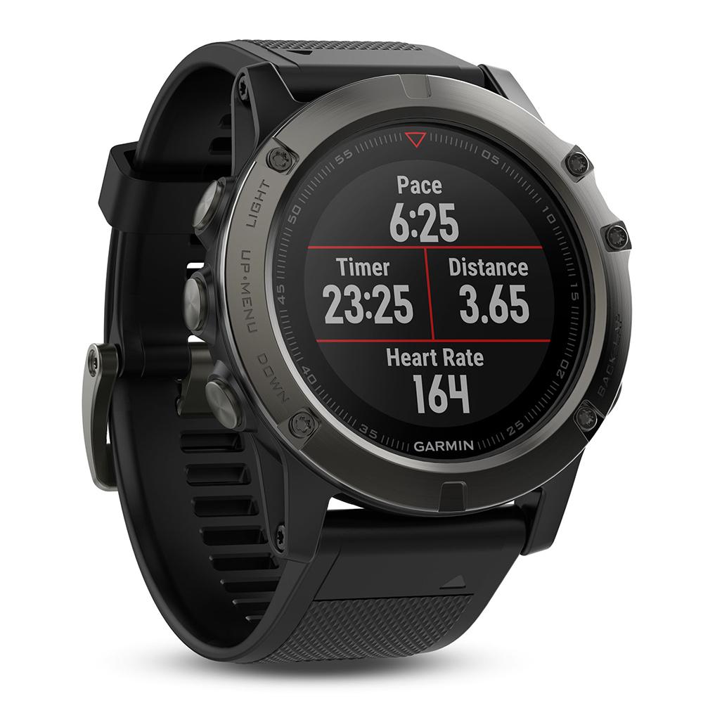 Garmin Fenix 5X Sapphire GPS Sport Watch - Grey/Black