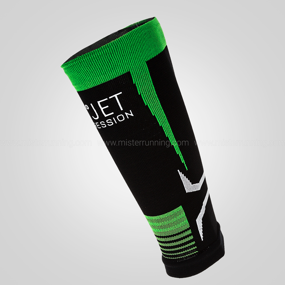 Mico Oxi-Jet Compression Calf Sleeve - Black/Green