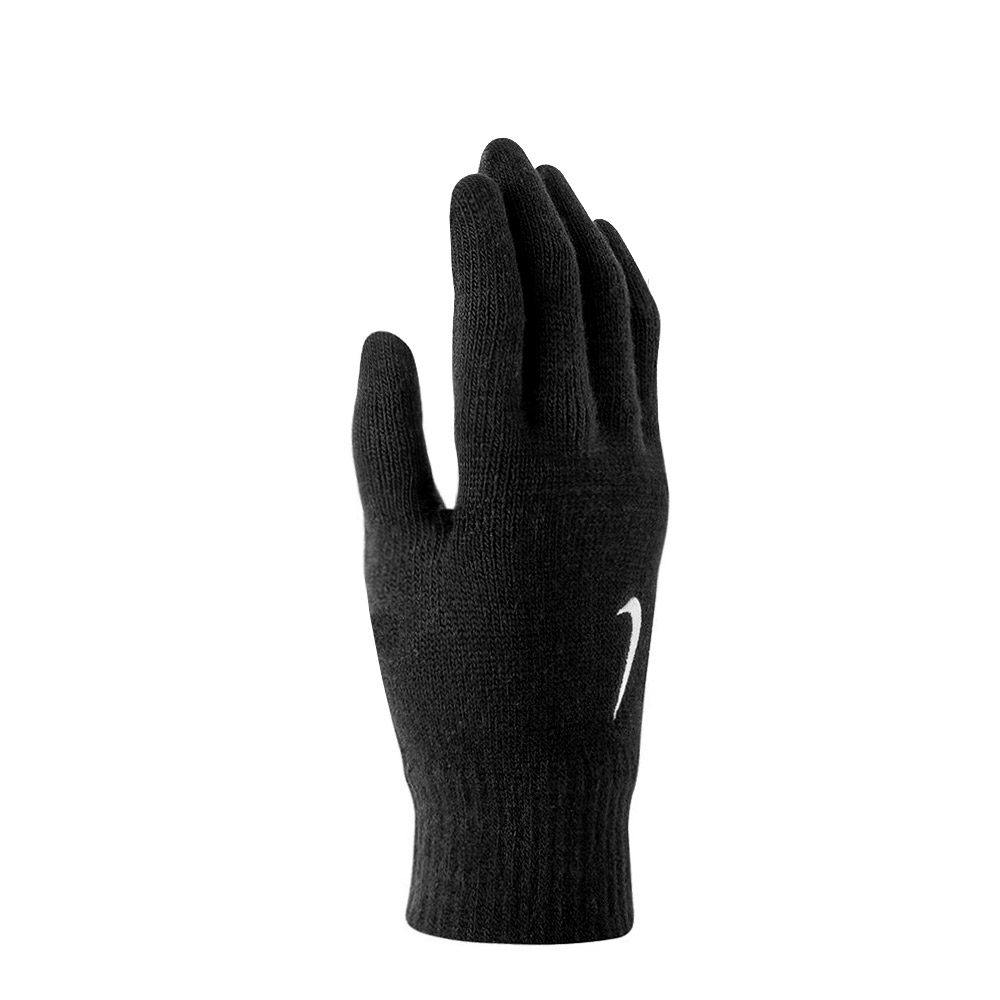 Nike Swoosh Knit Gloves - Black/White
