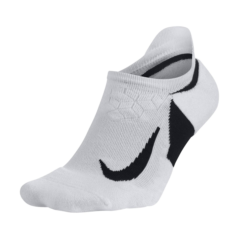 Nike Dry Elite Cushioned No Show Socks - White/Black
