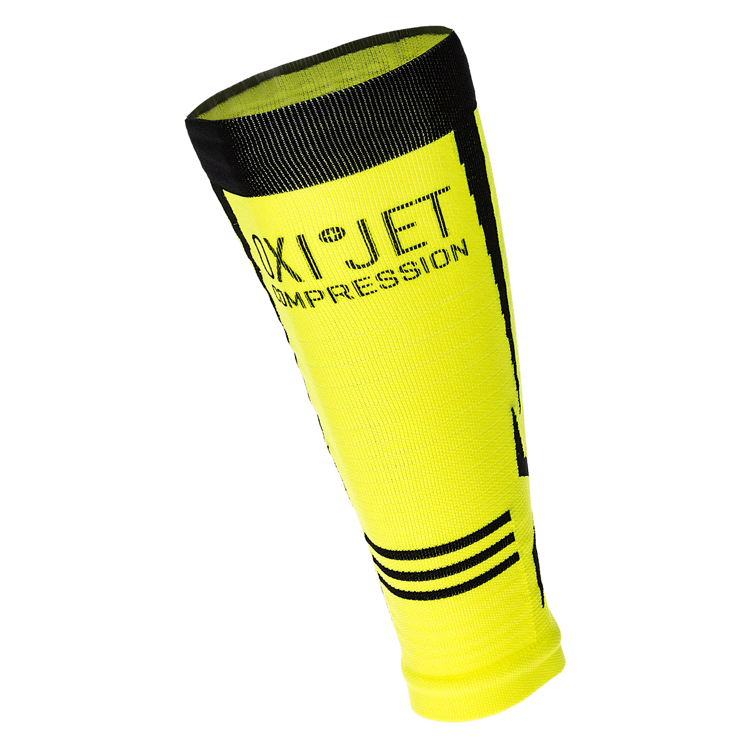 Mico Oxi-Jet Compression Calf Sleeve - Yellow/Black