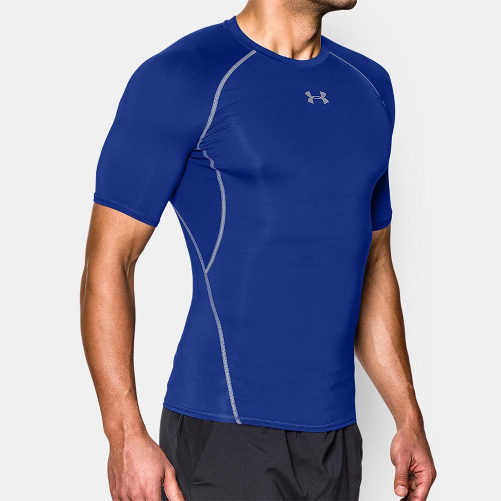 Under Armour HeatGear Armour Compression T-Shirt - Light Blue/Grey