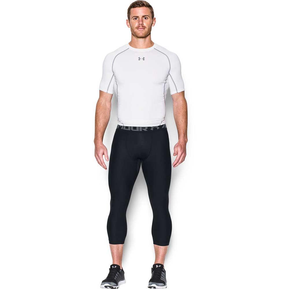 Under Armour HeatGear Compression 3/4 Leggings - Black/Grey