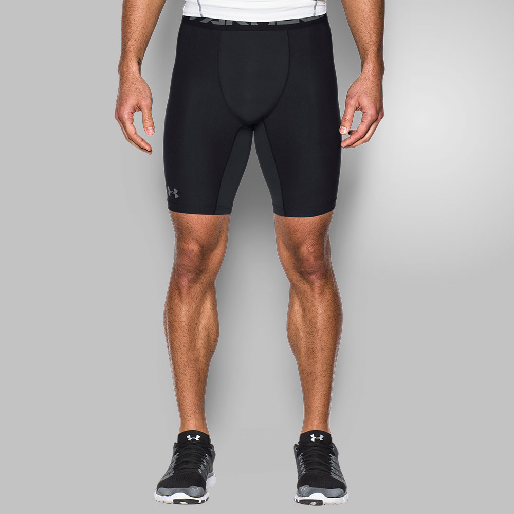 Under Armour HeatGear Armour Long Compression Shorts - Black 1289568-0001