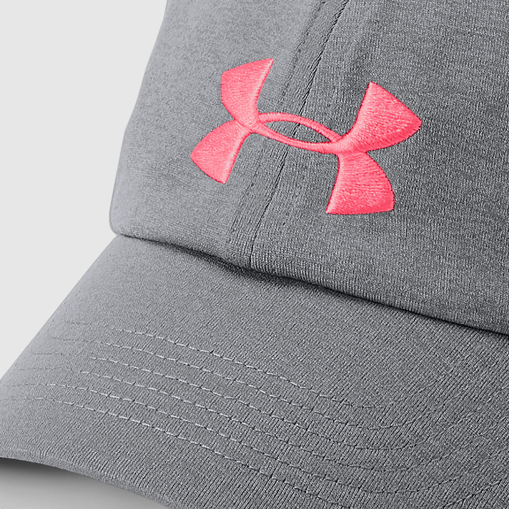 Under Armour Womens Microthread Renegade Cap - Grey Pink 1306289-0040 380d114c458