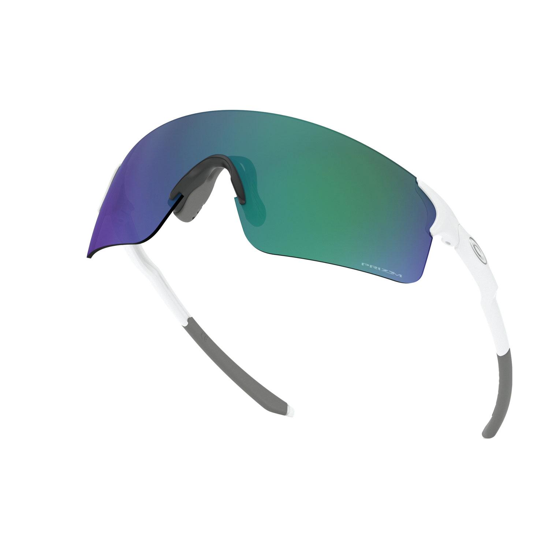 Oakley EVZero Blades Glasses - Matte White/Prizm Jade