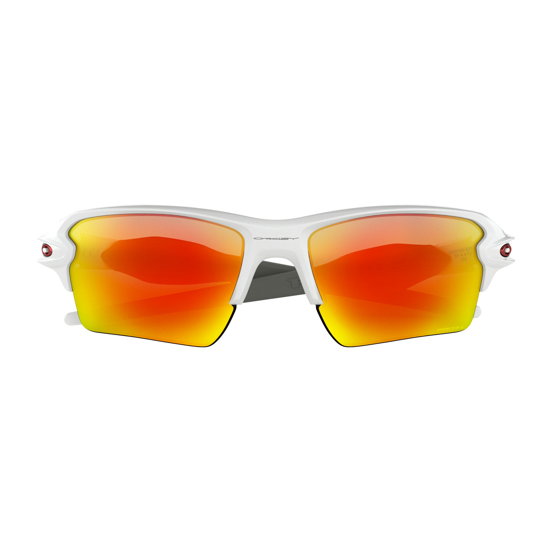 Oakley Flak 2.0 XL Glasses - Polished White/Prizm Ruby