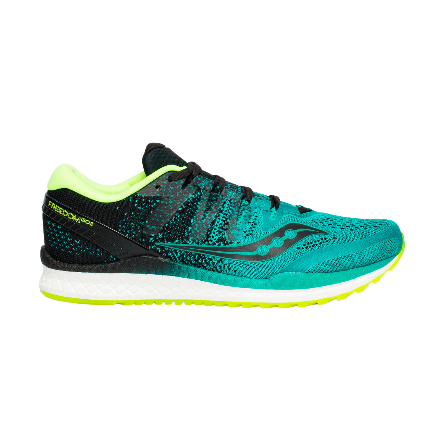 61407632 Saucony Freedom ISO 2 Men's Running Shoes - Teal/Black