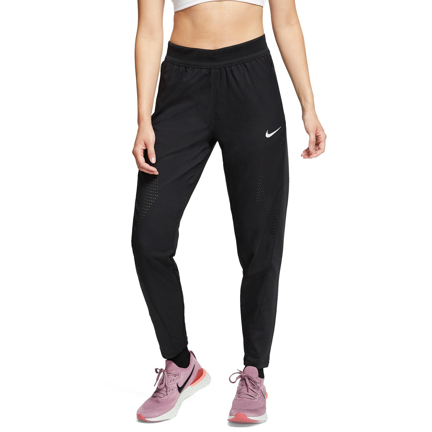 Nike Swift Pantaloni - Black/Reflective Silver