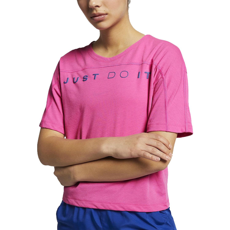 Nike Miler Surf T-Shirt - Laser Fuchsia/Indigo