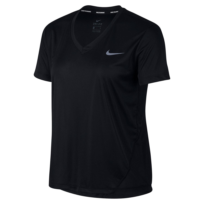 Nike Miler V-Neck T-Shirt - Black
