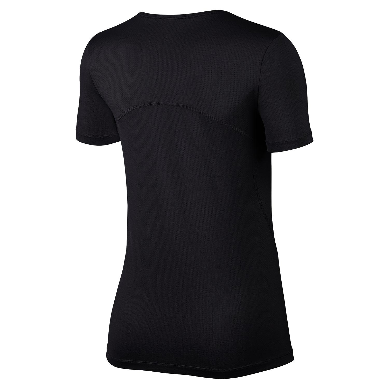 46a887fc0e Nike Pro Women s Running T-Shirt - Black White