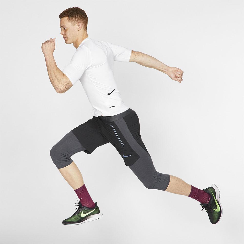 Nike Tech Pack 1/2 Zip T-Shirt - White/Black