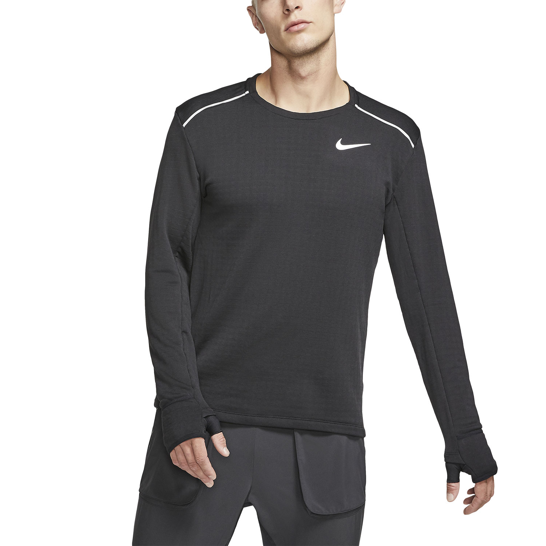 golondrina Escupir escotilla  Nike Therma Sphere Element Men's Running Shirt - Black