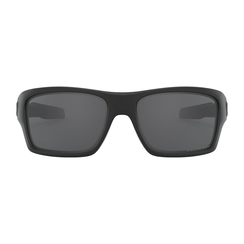 Oakley Turbine Glasses - Matte Black/Grey Polarized