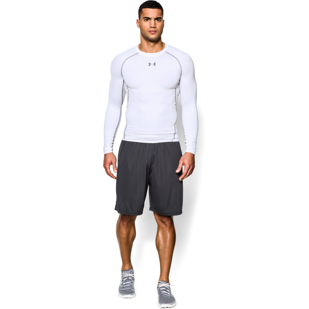 Under Armour HeatGear Compression Shirt - White