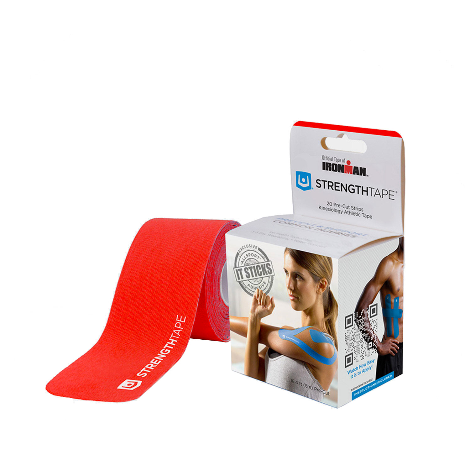 Ironman Muscle Strength 5 m Tape Roll - Red