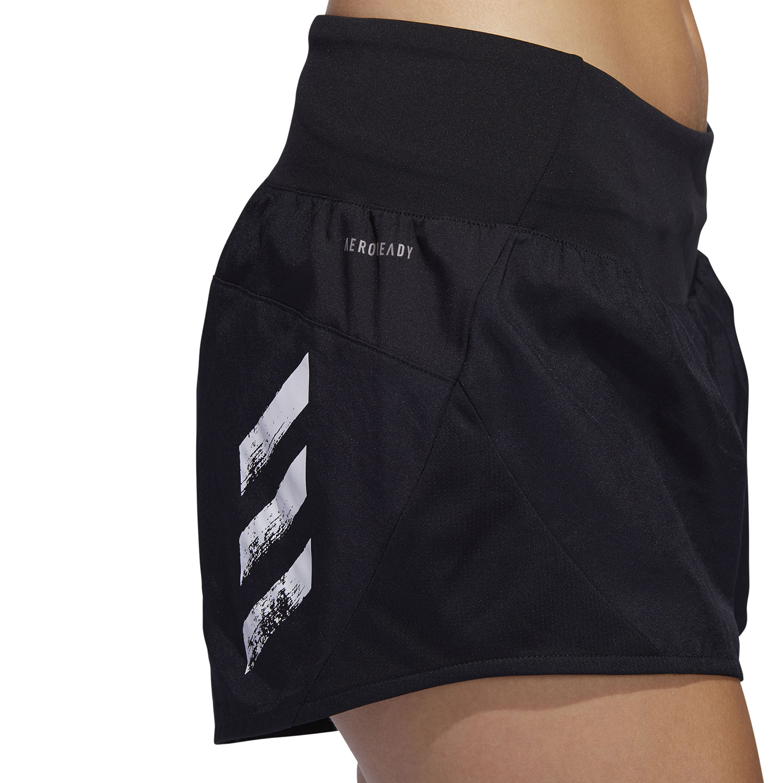 Adidas Run It 3 Stripes 4in Shorts - Black