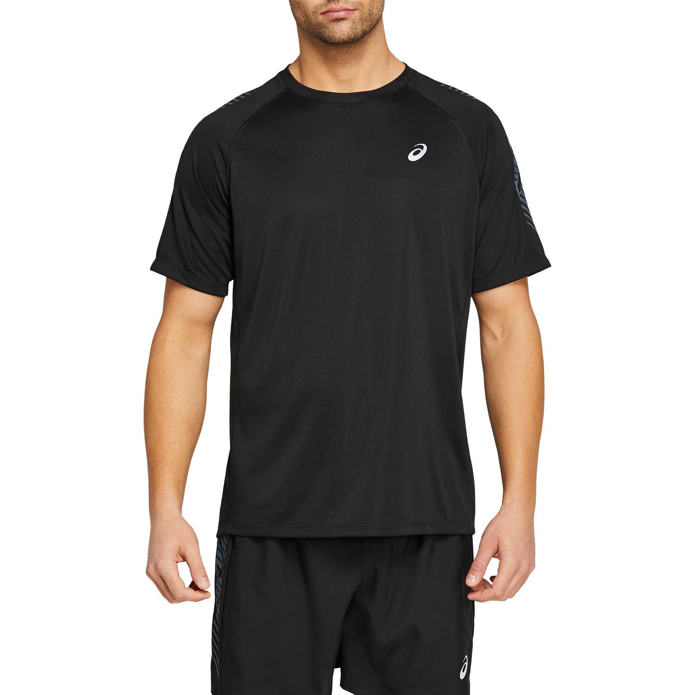 Asics Icon Logo Camiseta - Performance Black/Carrier Grey