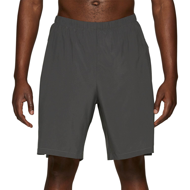 Asics Logo 2 in 1 7in Shorts - Dark Grey/Performance Black