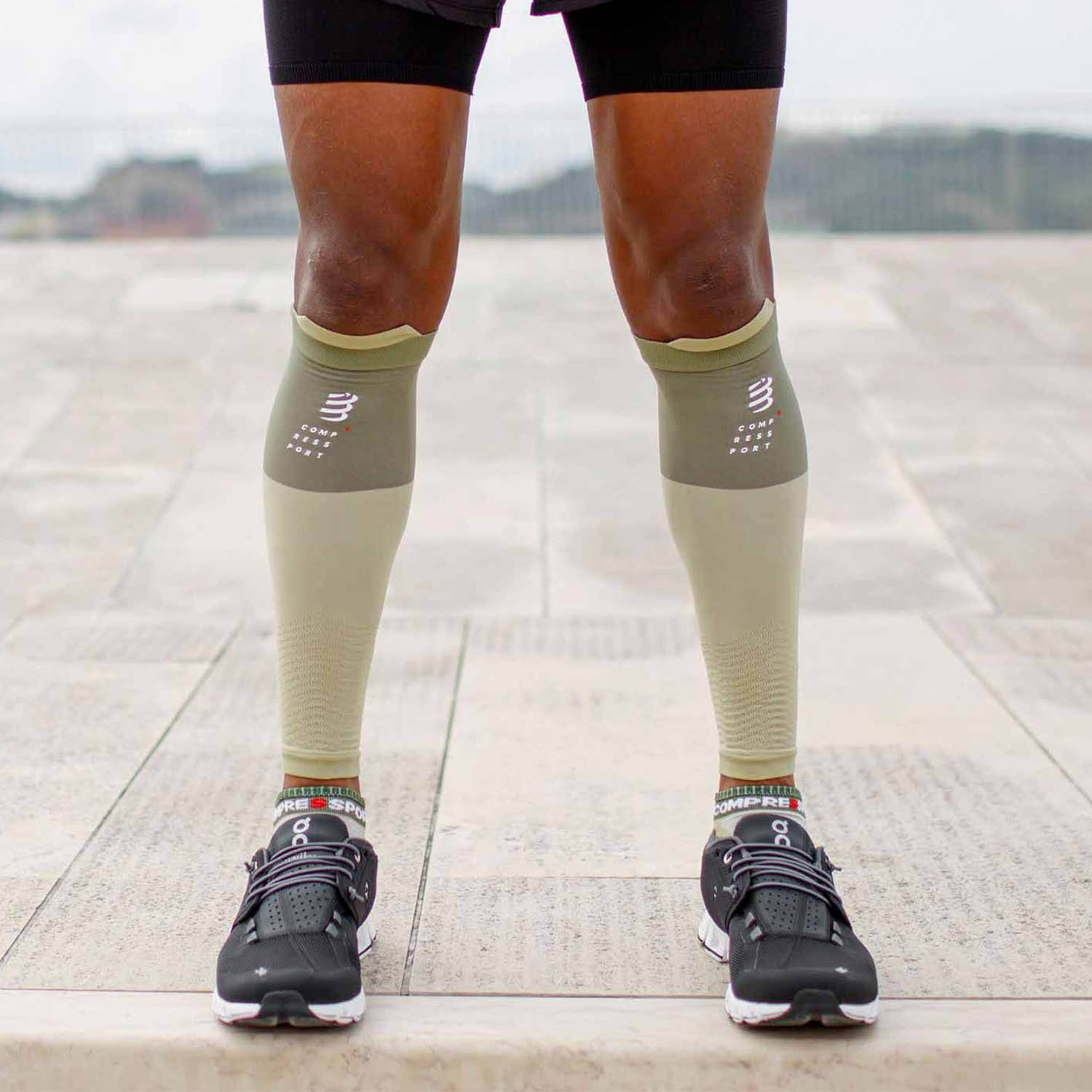 Compressport R2V2 Calf Sleeves - Dusty Olive