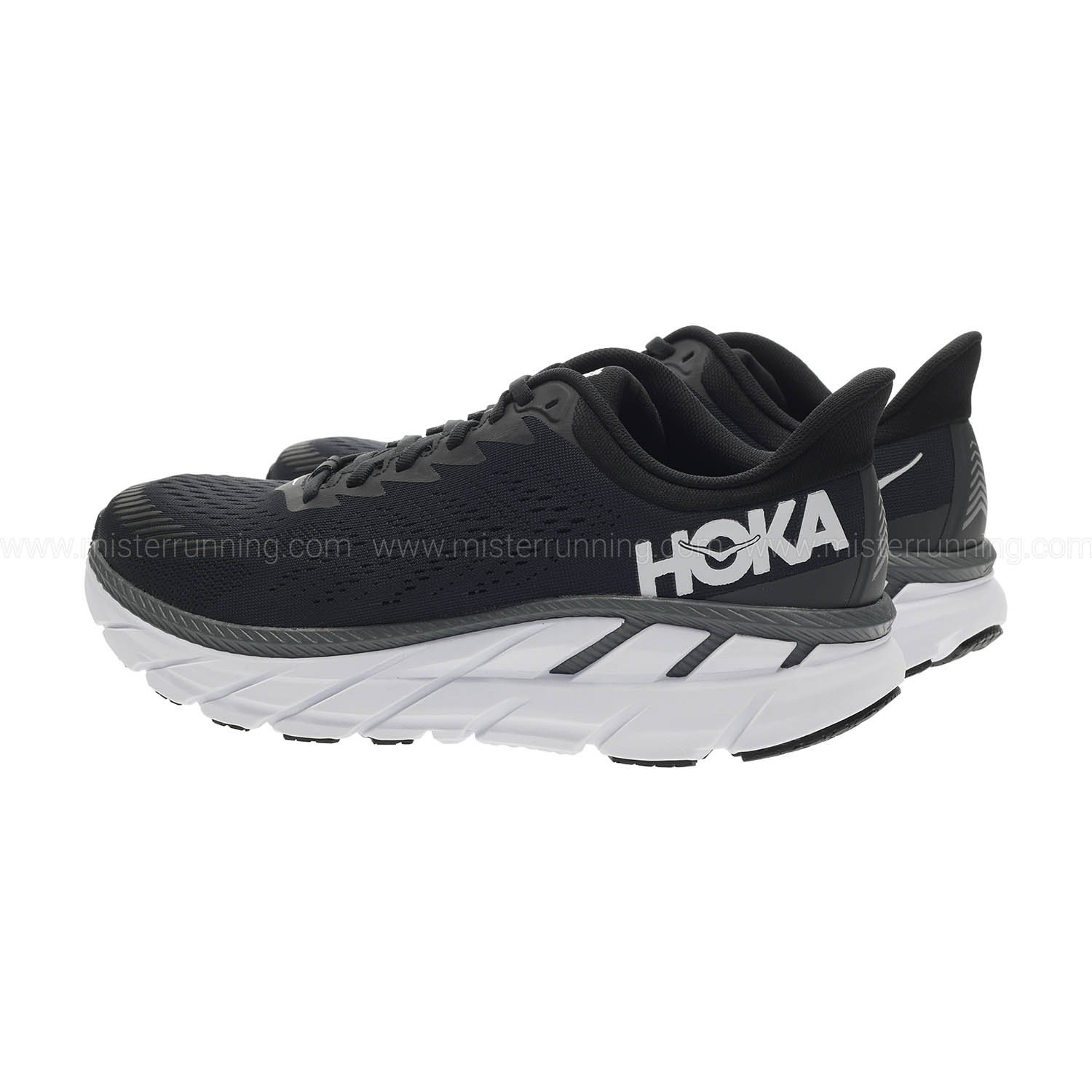 Hoka One One Clifton 7 Wide - Black/White