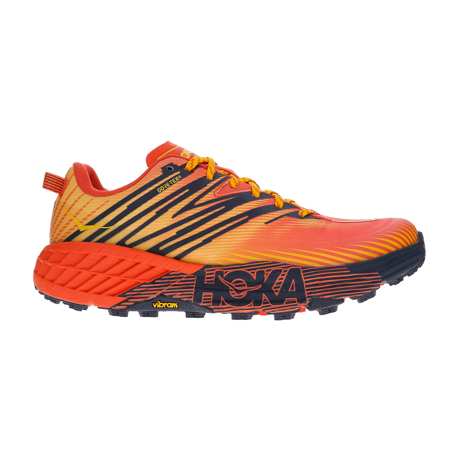 Hoka One One Speedgoat 4 GTX - Mandarin Red/Gold Fusion