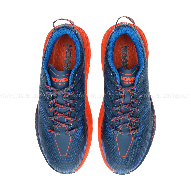 Hoka One One Speedgoat 4 - Majolica Blue/Mandarin Red