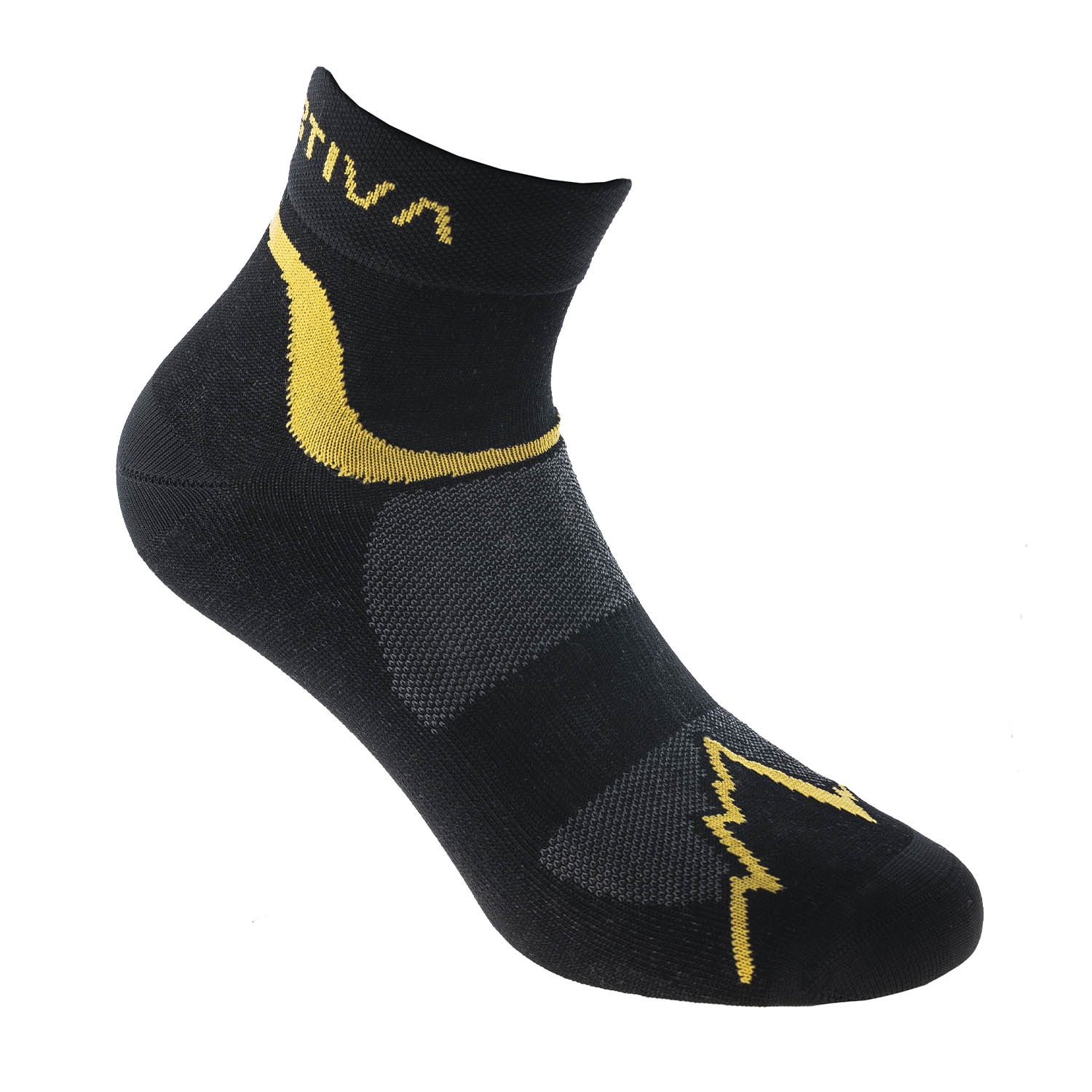 La Sportiva Fast Calze - Black/Yellow