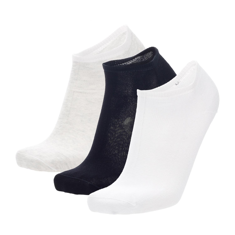 Mico Invisibile Light Weight x 3 Socks - Bianco/Nero/Ghiaccio
