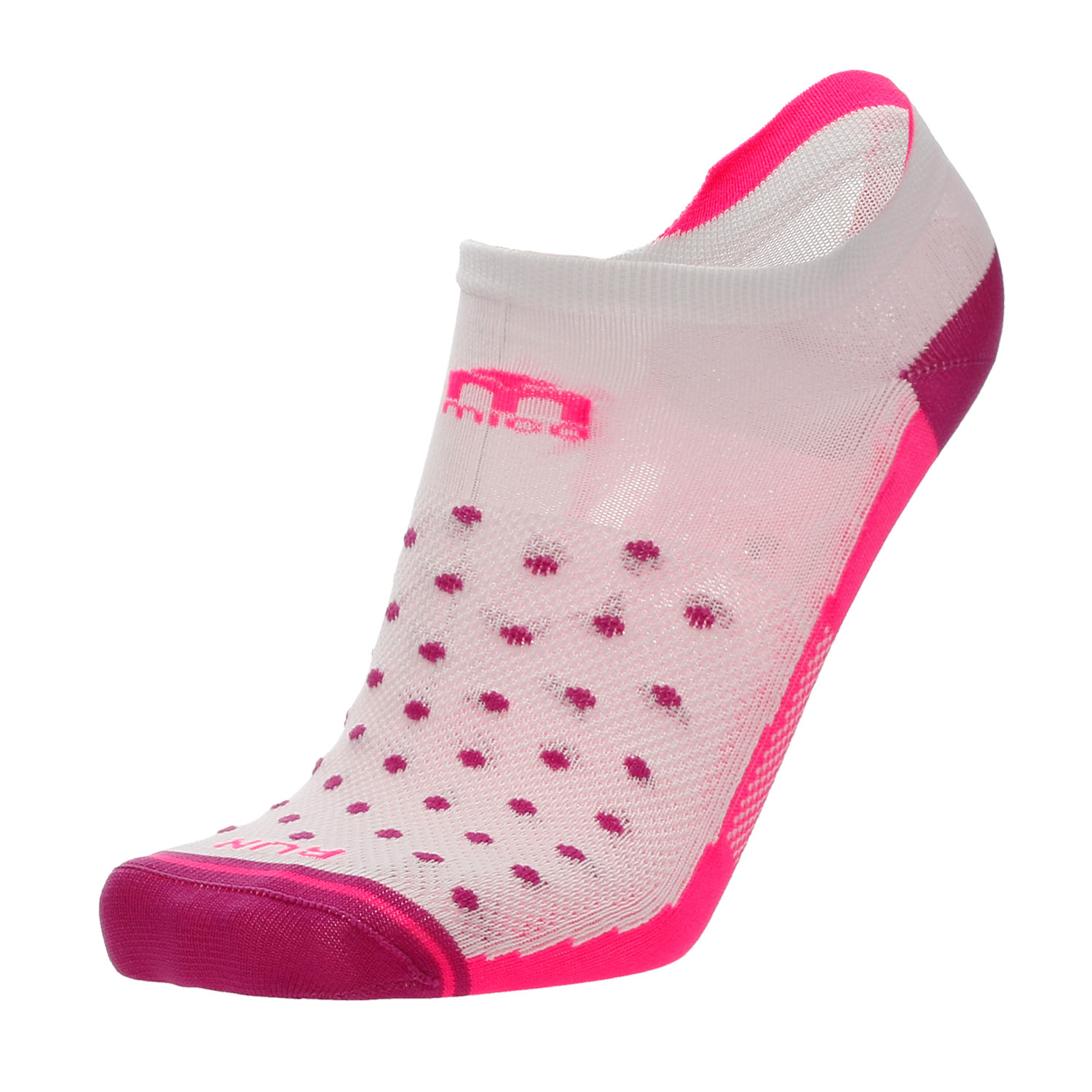 Mico Professional Extralight Weight Socks Woman - Bianco/Fucsia Fluo