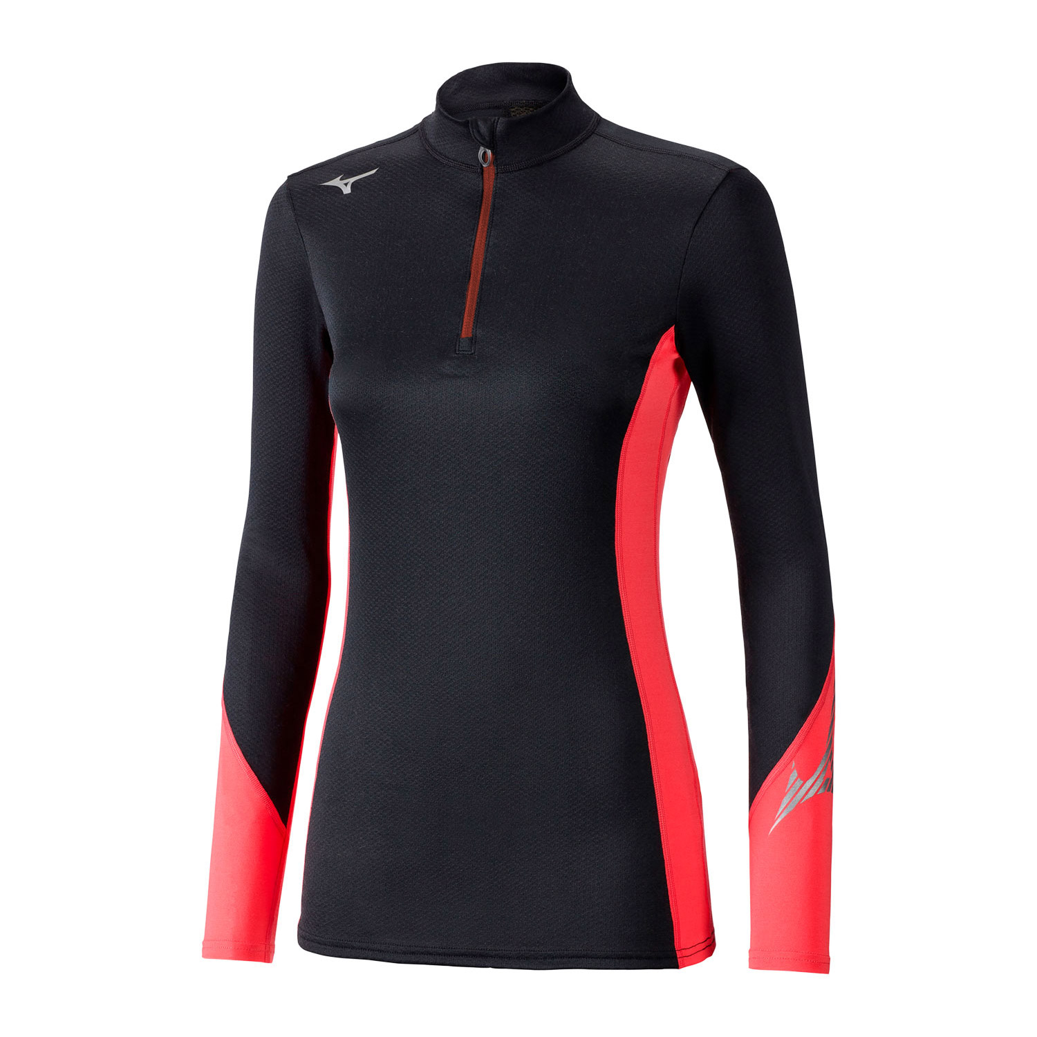 Mizuno Virtual Body G2 Shirt - Black/Coral