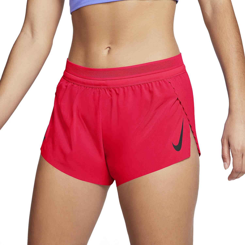 Nike Aeroswift 3in Pantaloncini - Bright Crimson/Black