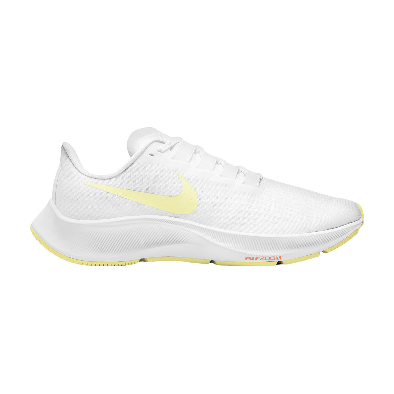 Nike Air Zoom Pegasus 37 - White/Light Zitron/Bright Mango