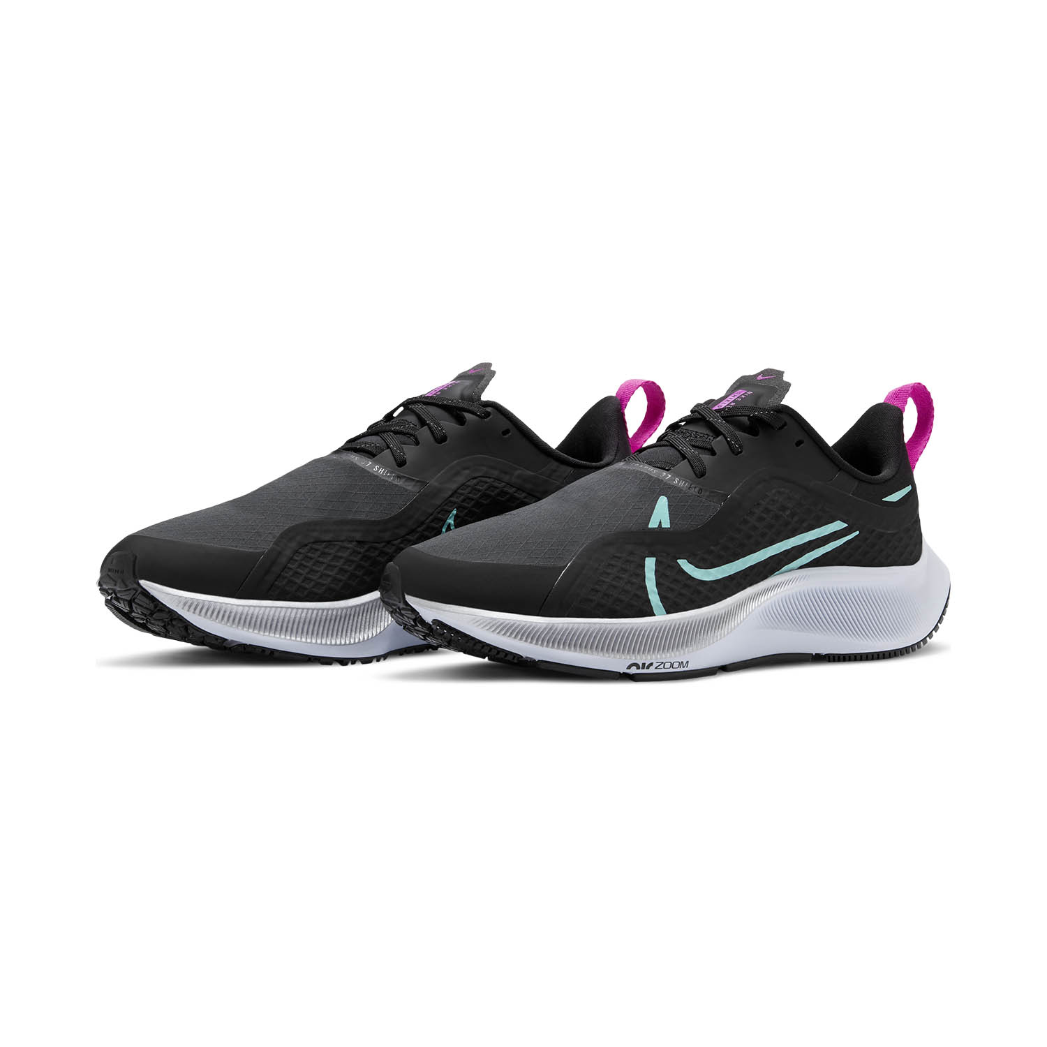 Nike Air Zoom Pegasus 37 Shield - Black/Aurora Green/Dark Smoke Grey