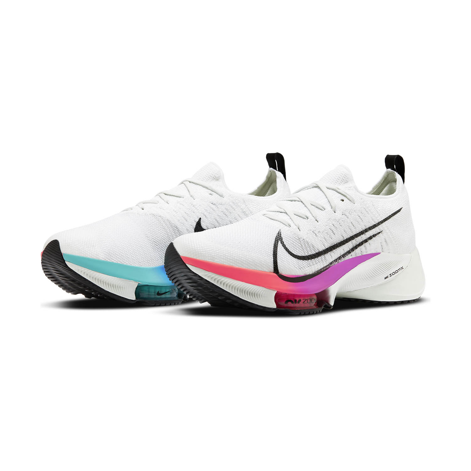 Nike Air Zoom Tempo Next% - White/Black/Hyper Violet/Flash Crimson