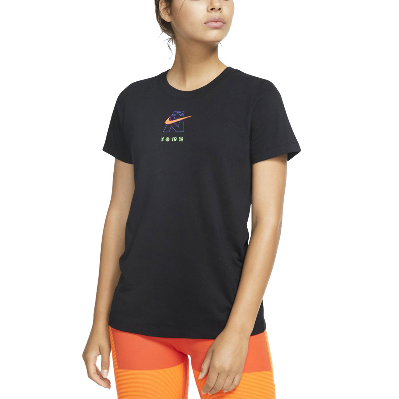 Nike Berlin Run Maglietta - Black/Hyper Crimson