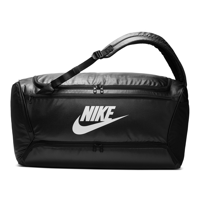 Nike Brasilia Convertible Duffle - Black/White