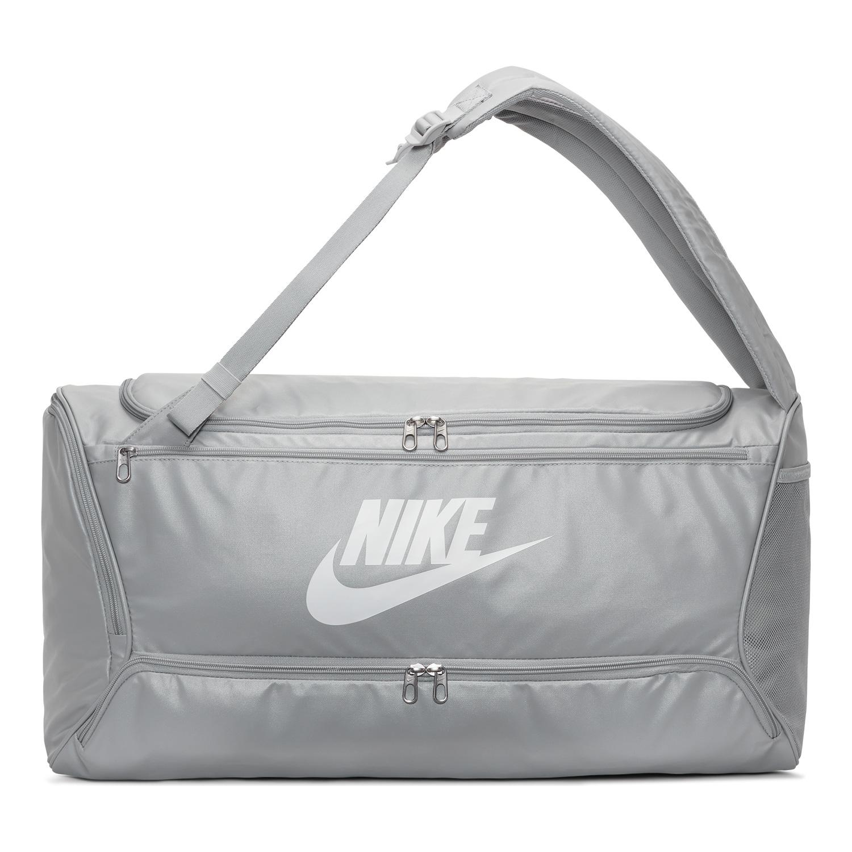 Nike Brasilia Convertible Duffle - Light Smoke Grey/White