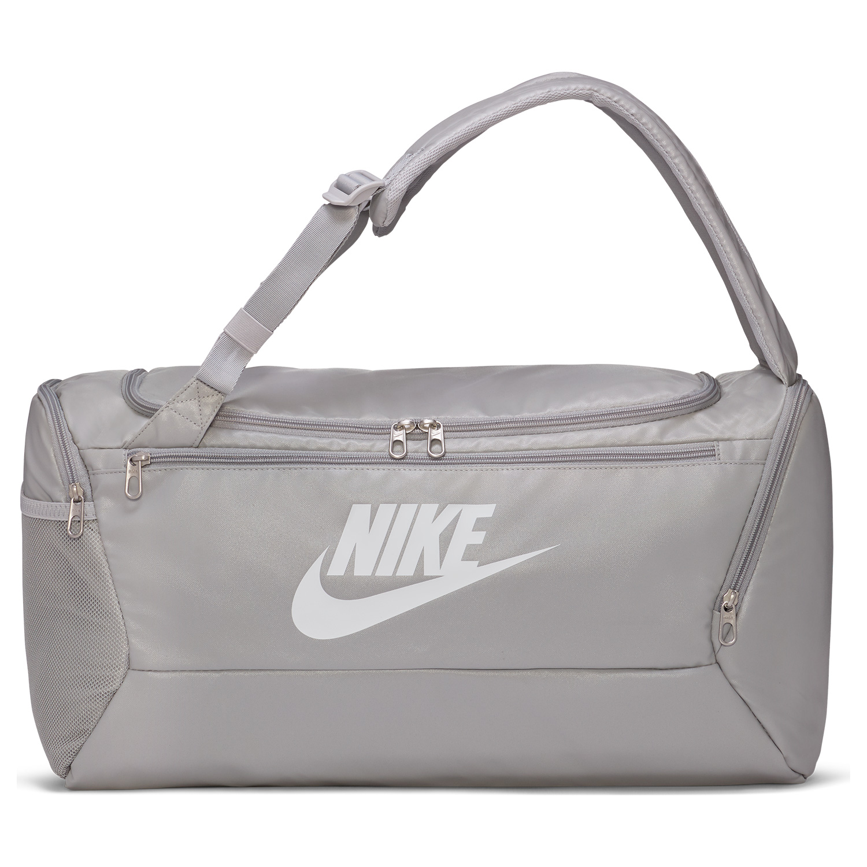 Nike Brasilia Swoosh Duffle - Light Smoke Grey/White