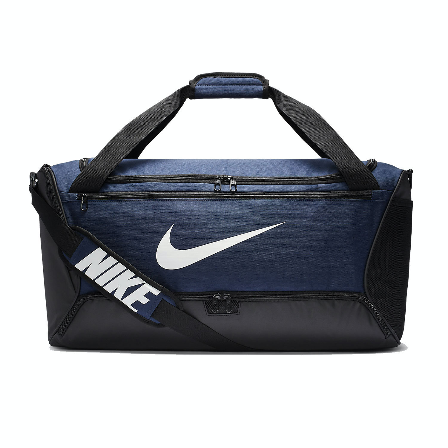 Nike Brasilia Medium Duffle - Midnight Navy/Black/White