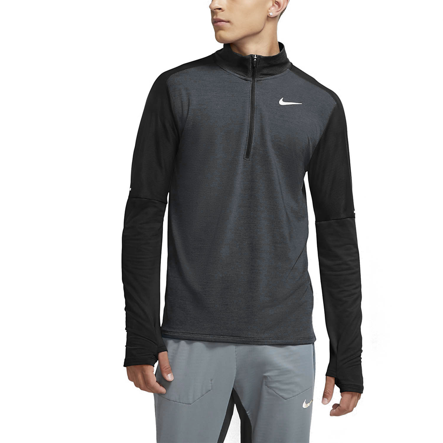 Nike Classic Element Shirt - Dark Smoke Grey/Black/Reflective Silver
