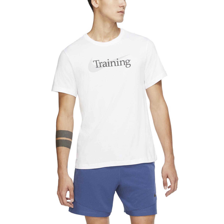 Organizar aleatorio Todo el tiempo  Nike Dri-FIT Swoosh Camiseta de Entrenamiento Hombre - White