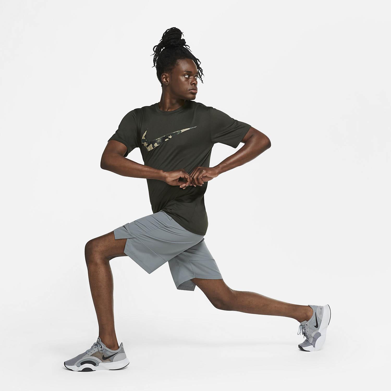 Nike Dry Camo Swoosh T-Shirt - Sequoia