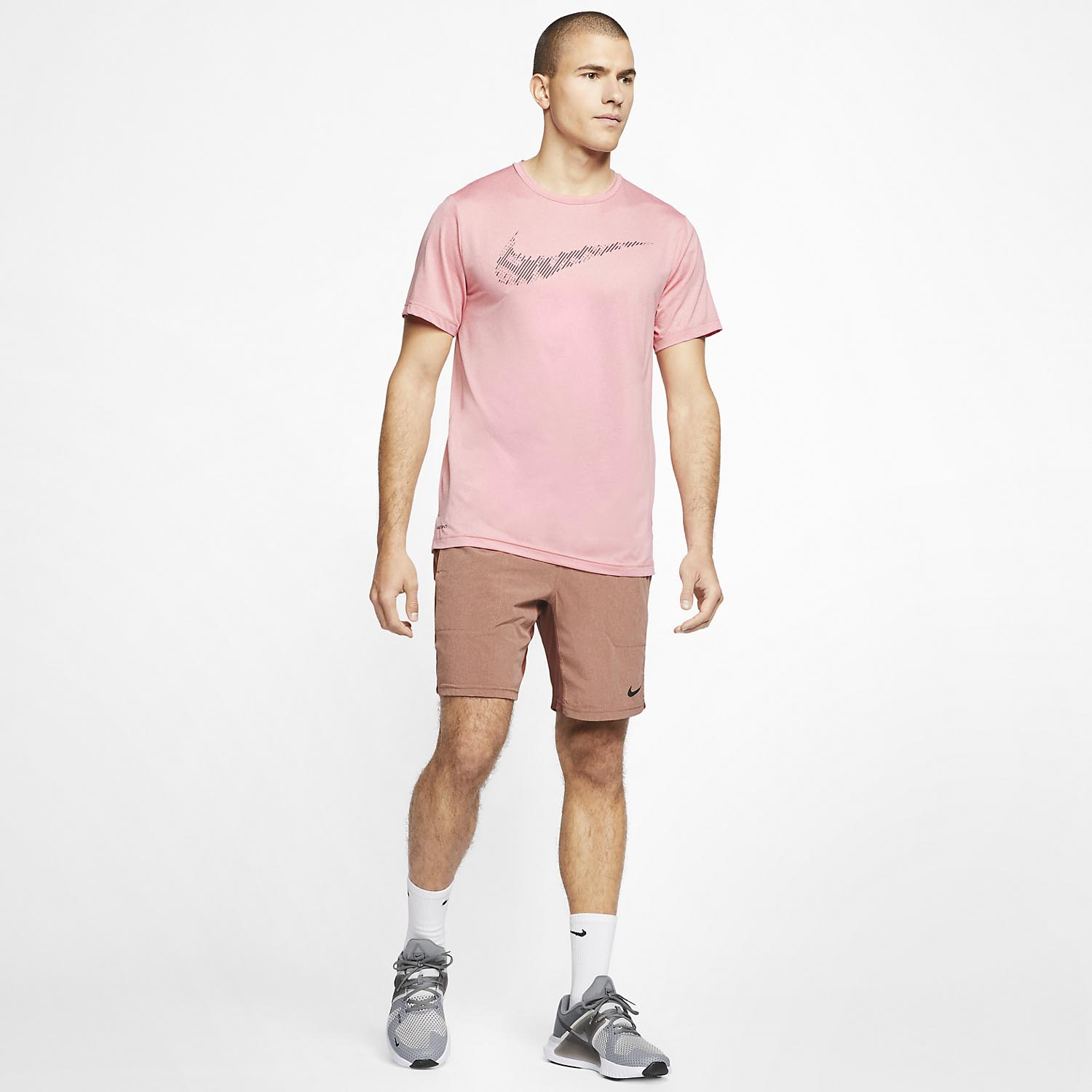 Nike Dry T-Shirt - University Red/Washed Coral/Heather/Black