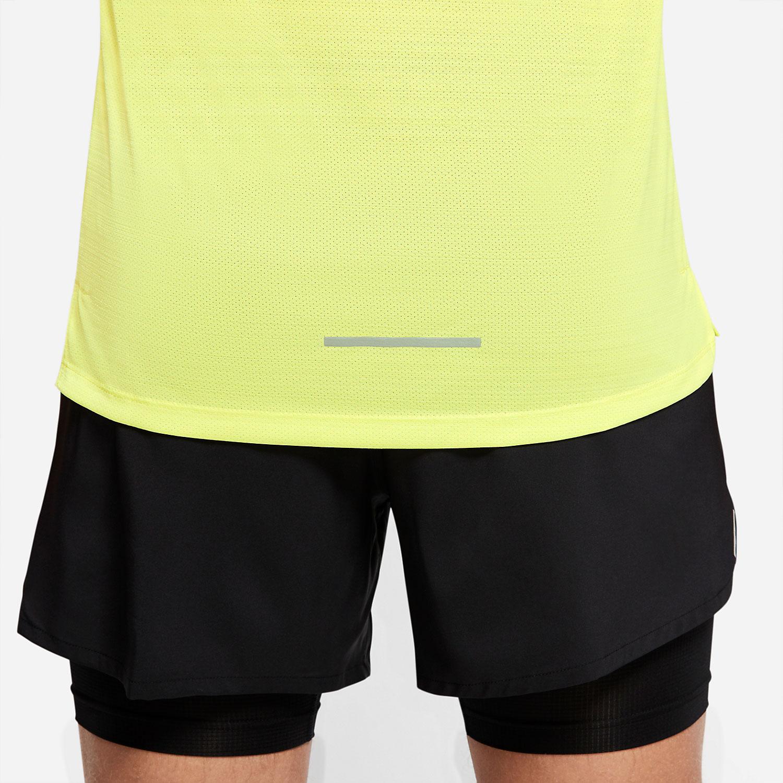 Nike Dry Miler Tank - Limelight/Heather/Reflective Silver