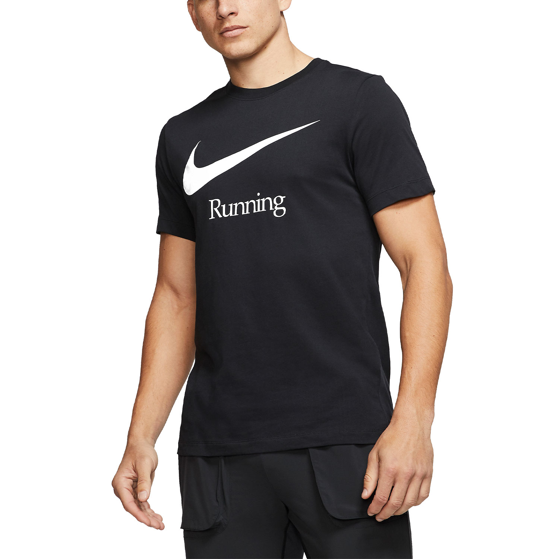 Nike Dry Run T-Shirt - Black/White