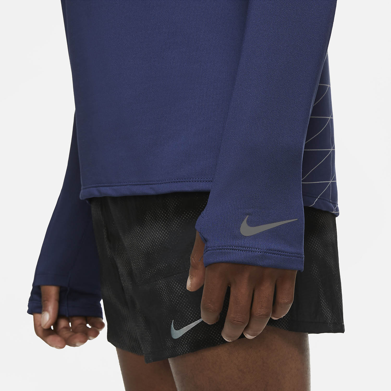 Nike Element Run Division Shirt - Midnight Navy/Reflective Silver