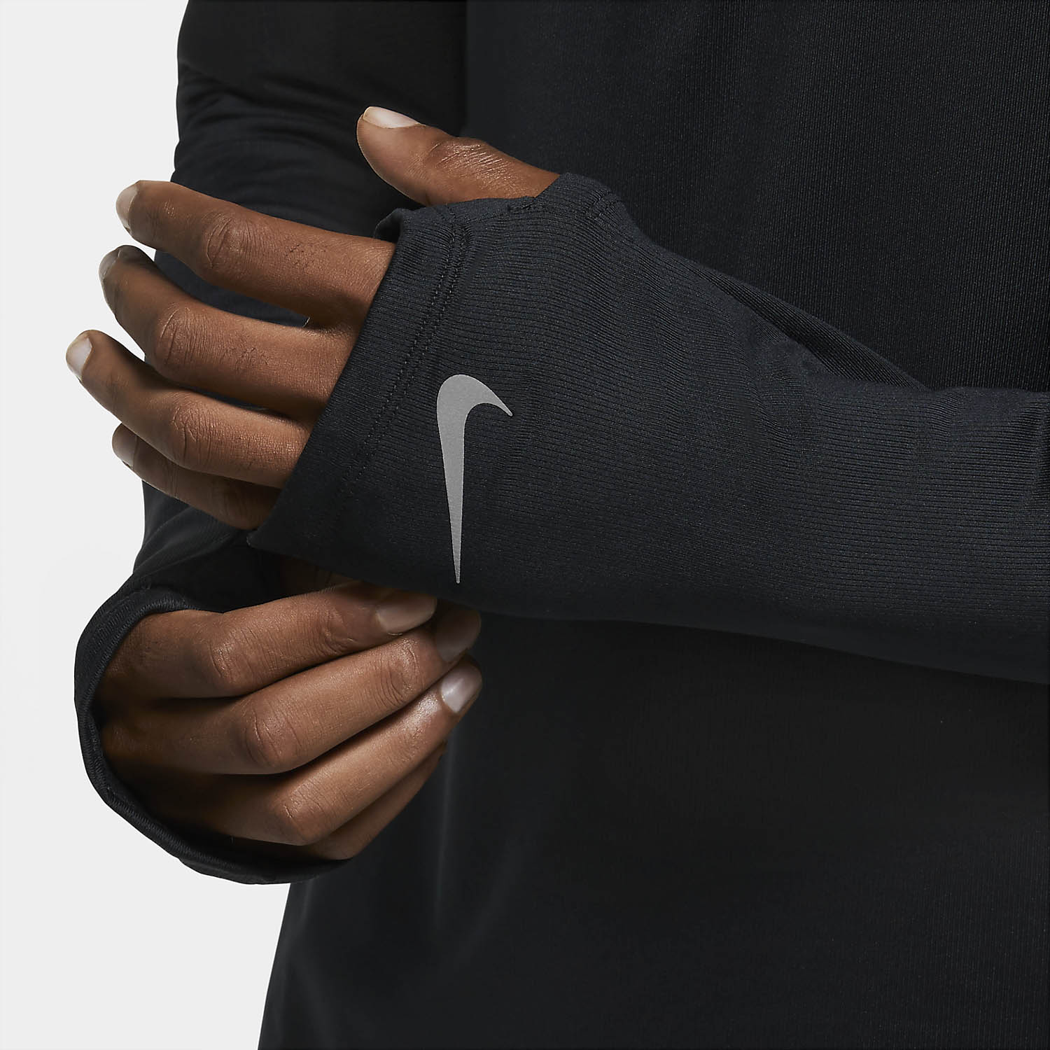 Nike Element Run Division Shirt - Black/Reflective Silver